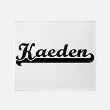 Kaeden Classic Retro Name Design Throw Blanket
