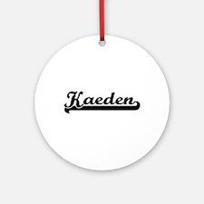 Kaeden Classic Retro Name Design Ornament (Round)