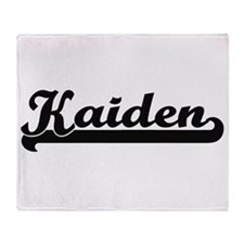 Kaiden Classic Retro Name Design Throw Blanket