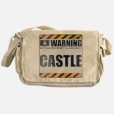Warning: Castle Canvas Messenger Bag