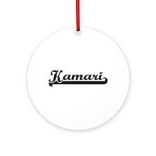 Kamari Classic Retro Name Design Ornament (Round)