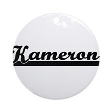Kameron Classic Retro Name Design Ornament (Round)