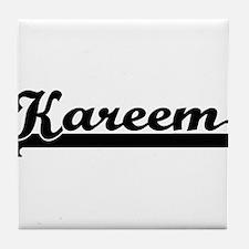 Kareem Classic Retro Name Design Tile Coaster
