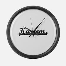 Kareem Classic Retro Name Design Large Wall Clock