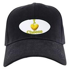 funny cute i heart love cheese cheesey heart Baseball Hat