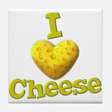 funny cute i heart love cheese cheesey heart Tile