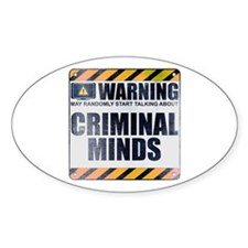 Warning: Criminal Minds Oval Decal