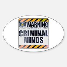 Warning: Criminal Minds Oval Decal