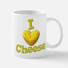 funny cute i heart love cheese cheesey heart Mug
