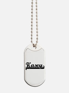 Kasey Classic Retro Name Design Dog Tags