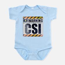 Warning: CSI Infant Bodysuit