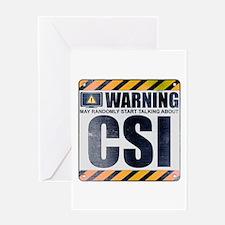 Warning: CSI Greeting Card