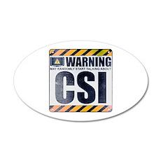 Warning: CSI 22x14 Oval Wall Peel