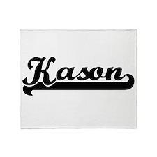 Kason Classic Retro Name Design Throw Blanket
