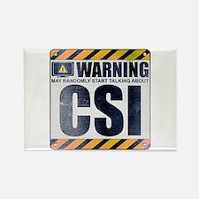 Warning: CSI Rectangle Magnet