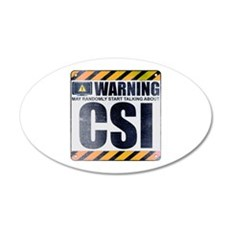 Warning: CSI 22x14 Oval Wall Peel