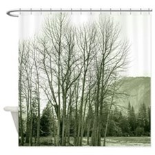 Trees on the Meadow Shower Curtain