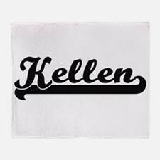 Kellen Classic Retro Name Design Throw Blanket