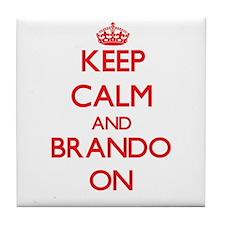 Keep Calm and Brando ON Tile Coaster