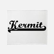 Kermit Classic Retro Name Design Throw Blanket
