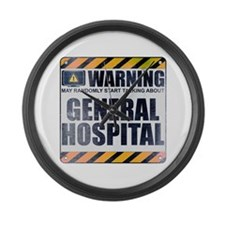 Warning: General Hospital Large Wall Clock