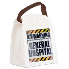 Warning: General Hospital Canvas Lunch Bag