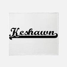 Keshawn Classic Retro Name Design Throw Blanket