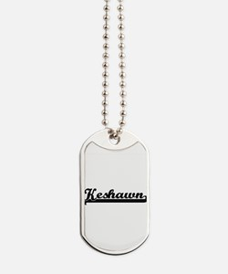 Keshawn Classic Retro Name Design Dog Tags