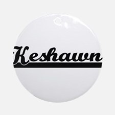 Keshawn Classic Retro Name Design Ornament (Round)