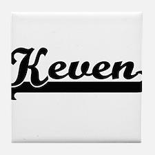 Keven Classic Retro Name Design Tile Coaster
