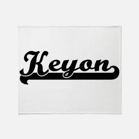 Keyon Classic Retro Name Design Throw Blanket