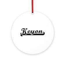 Keyon Classic Retro Name Design Ornament (Round)