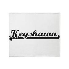 Keyshawn Classic Retro Name Design Throw Blanket