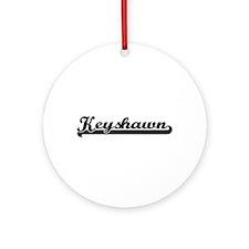 Keyshawn Classic Retro Name Desig Ornament (Round)