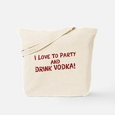 Cute Vodka Tote Bag