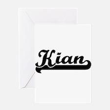 Kian Classic Retro Name Design Greeting Cards