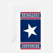 Customized Patriotic Red White and Blue Flag Greet