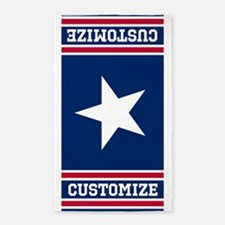 Customized Patriotic Red White and Blue Flag Area