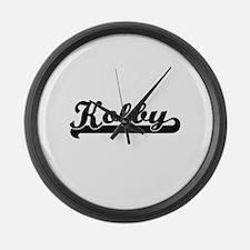 Kolby Classic Retro Name Design Large Wall Clock
