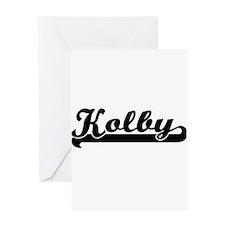 Kolby Classic Retro Name Design Greeting Cards