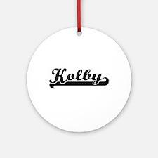 Kolby Classic Retro Name Design Ornament (Round)