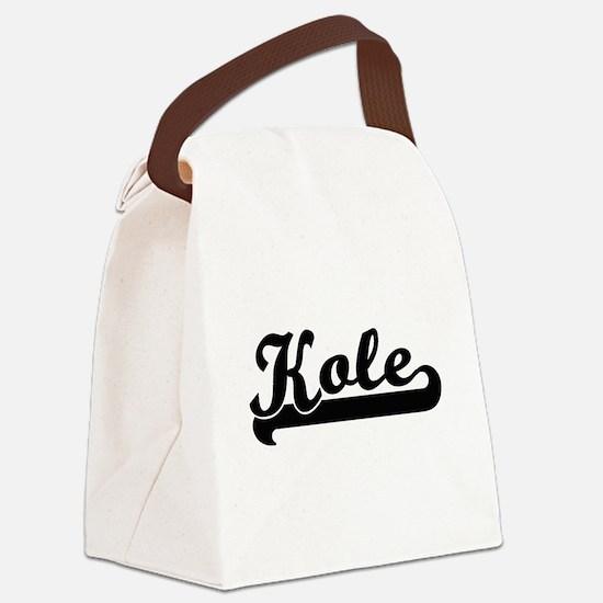 Kole Classic Retro Name Design Canvas Lunch Bag