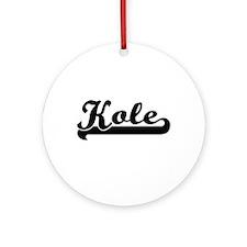 Kole Classic Retro Name Design Ornament (Round)