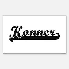 Konner Classic Retro Name Design Decal