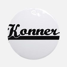 Konner Classic Retro Name Design Ornament (Round)