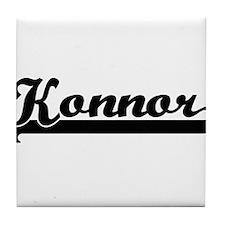 Konnor Classic Retro Name Design Tile Coaster