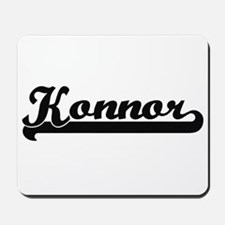 Konnor Classic Retro Name Design Mousepad