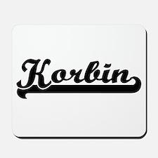 Korbin Classic Retro Name Design Mousepad