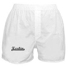 Korbin Classic Retro Name Design Boxer Shorts