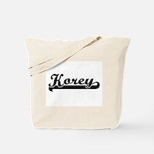 Korey Classic Retro Name Design Tote Bag